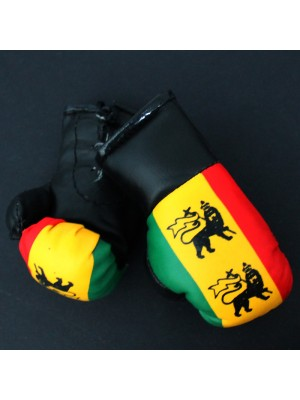 Mini Boxing Gloves - Lion On Rasta