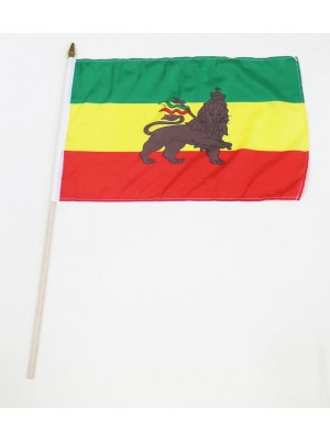 "Wholesale Ethiopian Lion of Judah- Hand Flag 12"" x 18"""