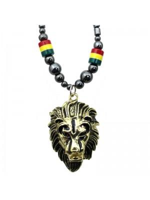 Wholesale Lion's Head Design Necklace - Gold