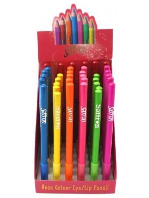 Wholessle Saffron Lip & Eye Pencil - Assorted Colours