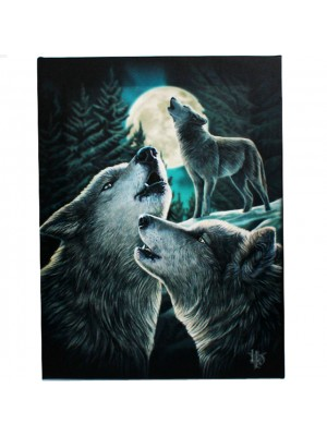 Lisa Parker Canvas Wall Plaque- Wolf Song