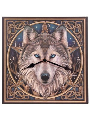 Lisa Parker Celtic Wolf Head Clock
