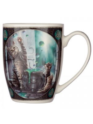 Wholesale Lisa Parker Hubble Bubble Cat & Kittens New Bone China Mug