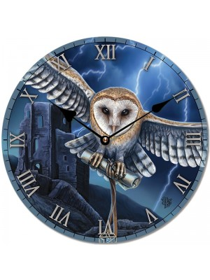 Lisa Parker Heart of the Storm Owl Picture Clock