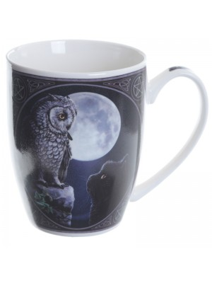 Lisa Parker Purrfect Owl Bone China Mug