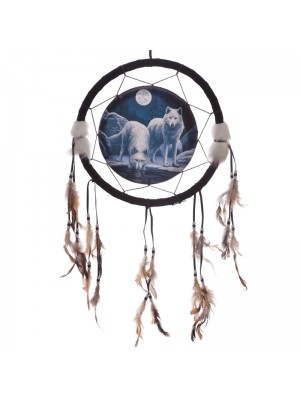 Lisa Parker Warriors of Winter Wolf Dream Catcher - 33cm