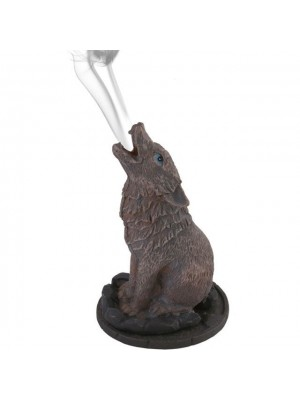 Lisa Parker Wolf Incense Cone Holder - 12cm