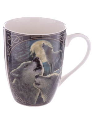 Lisa Parker Wolf Song Bone China Mug