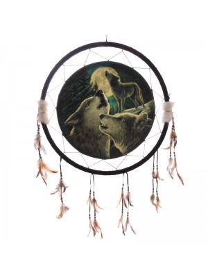 Lisa Parker Wolf Song Dreamcatcher - 60cm