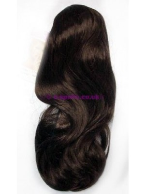 Synthetic Hair Extensions With Clamp - Light Brown
