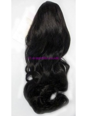 Synthetic Hair Extensions With Clamp - Dark Brown