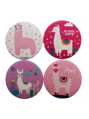 Wholesale Llama Design Compact Mirrors - Assorted Designs