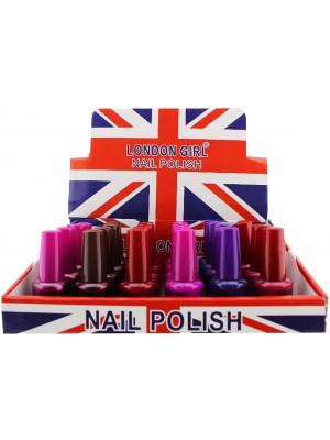 Wholesale London Girl Nail Polish (Tray 12) - Assorted Colours