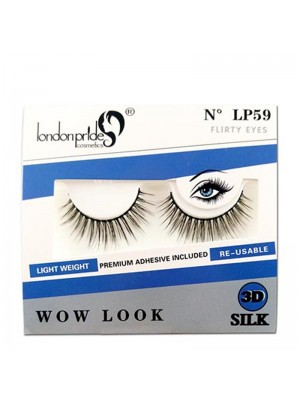 Wholesale London Pride 3D Silk Wow Look Eyelashes - LP59 Flirty Eyes