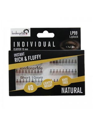 Wholesale London Pride Individual Rich & Fluffy 4D Natural Eyelashes - 10mm