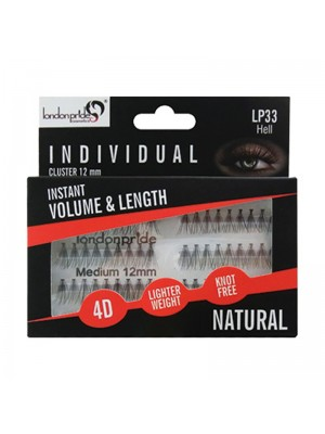 Wholesale London Pride Individual Volume & Length 4D Natural Eyelashes - 12mm