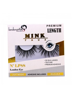 Wholesale London Pride Mink Faux Premium Length Eyelashes - LP88 London Eye