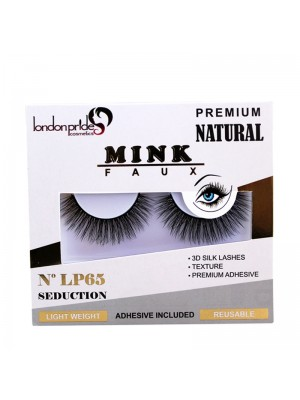 Wholesale London Pride Mink Faux Premium Natural Eyelashes - LP65 Seduction