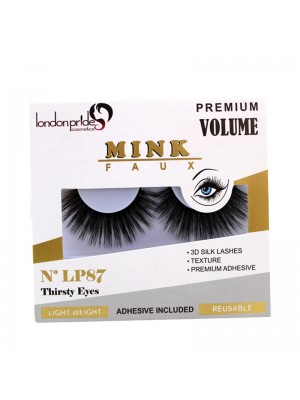 Wholesale London Pride Mink Faux Premium Volume Eyelashes - LP87 Thirsty Eyes