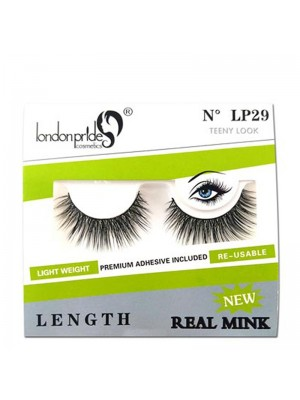 Wholesale London Pride Real Mink Length Eyelashes - LP29 Teeny Look