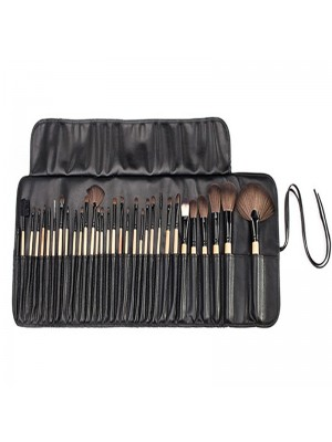 Wholesale London Pride Soft Leather 32 Piece Bamboo Brush Set