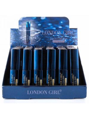 London Girl Waterproof Liquid Eyeliner - Black