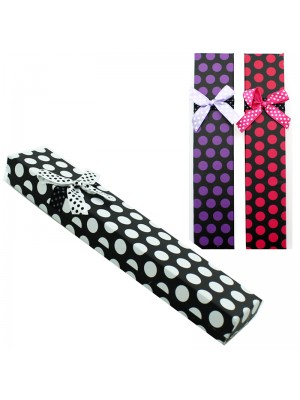 Long Gift Box Polka Dot Assorted Colours (21x4x2cm)