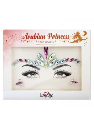 Wholesale Love Shy Festival Face Jewels - Arabian Princess