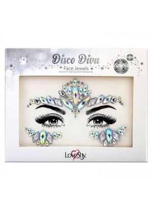 Wholesale Love Shy Festival Face Jewels - Disco Diva