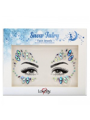 Wholesale Wholesale Love Shy Festival Face Jewels - Snow Fairy