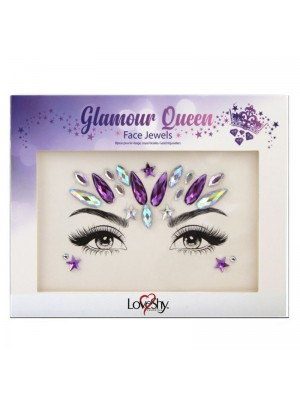 Wholesale Love Shy Festival Face Jewels - Glamour Queen