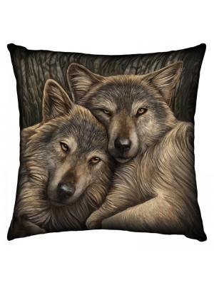Loyal Companions Silk Cushion - 42cm