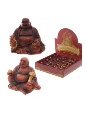 Lucky Mini-Buddha (Wooden Effect) - 4.5cm