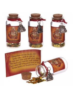Lucky Buddha Wishes Jars - Assorted Designs 72674
