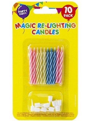 Wholesale Magic Re - Lightning Candles With Holders - 10pcs