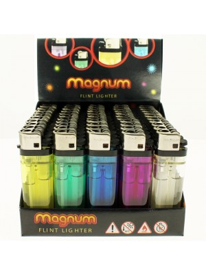 Wholesale Magnum Flint Disposable Lighters - Assorted Colours