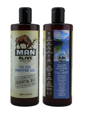 Wholesale Man Alive Shower Gel For Mens - Blue Cedar