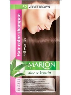 Wholesale Marion Aloe & keratin Hair Colour Shampoo - Velvet Brown(52)