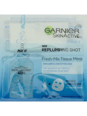 Wholesale Garnier Skin Active Replumping Shot Tissue Mask-33g