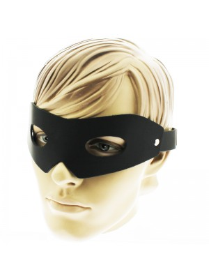 Black Plain Genuine Leather Mask