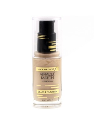 Max Factor Miracle Match Foundation - 40 Light Ivory