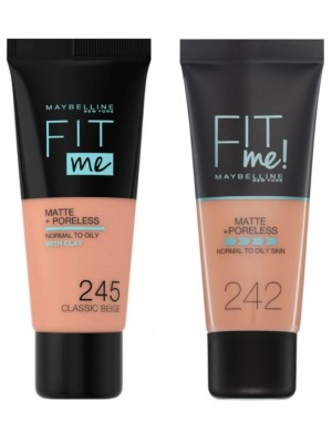 Maybelline Fit Me Matte & Poreless Normal to Oily Skin Foundation - Assorted Shades