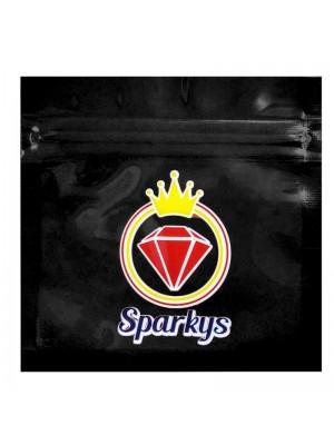 Wholesale Grip Seal Printed Baggies - Sparkys - Black (80x80mm)