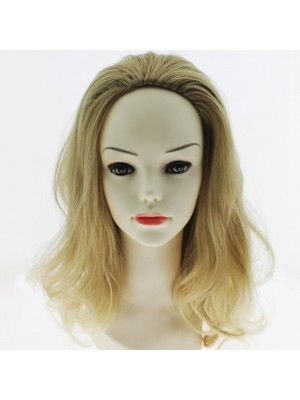 Synthetic Medium Length Wavy Hair Half Wig - Valeria