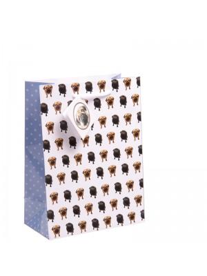 Pug Gift Bags Medium  (17cm x 23cm x 9cm)