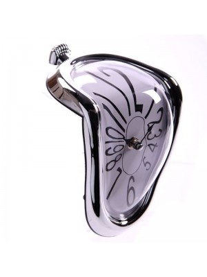 Melting Clock - Silver