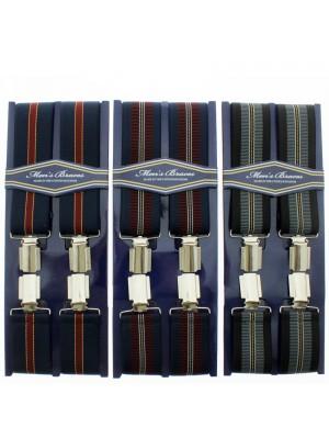 Men's 35mm Braces Stripe Stitches Assorted