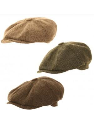 Men's 8 Panel Hawkins Collection Caps - Assorted Colour & Sizes