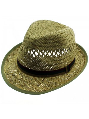 Men's Bound Edge Straw Trilby