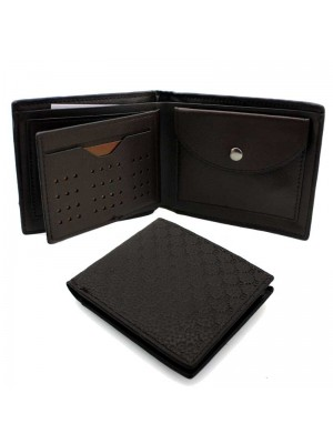 Wholesale Men's Bovi Leather Wallet With 5 Card Slots - Brown